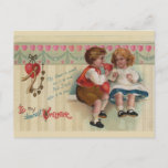 Dearest Valentine Vintage Postcard