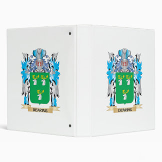 Dearing Coat of Arms - Family Crest 3 Ring Binder