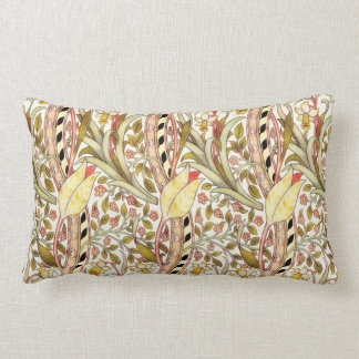 Dearle Daffodil Vintage Floral Pattern Lumbar Pillow