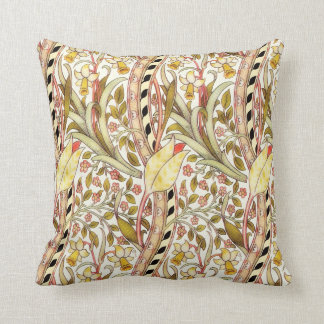 Dearle Daffodil Vintage Floral Pattern Throw Pillow