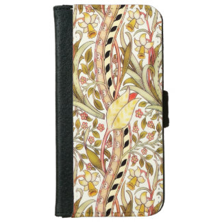 Dearle Daffodil Vintage Floral Pattern Wallet Phone Case For iPhone 6/6s