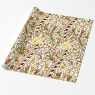 Dearle Daffodil Vintage Floral Pattern Wrapping Paper