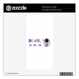 Dearly Beloved iPhone 4S Decal