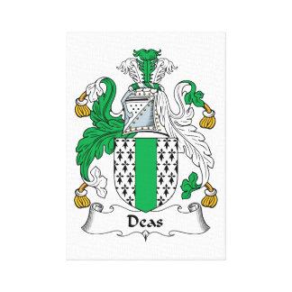 Deas Family Crest Canvas Prints