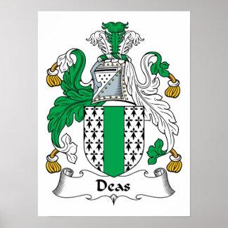 Deas Family Crest Poster