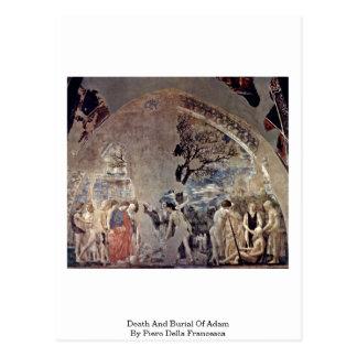 Death And Burial Of Adam By Piero Della Francesca Postcard