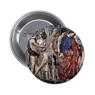 Death And Burial Of Adam. Detail., By Piero Della Pinback Buttons