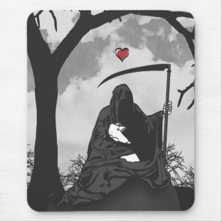 DEATH AND HIS BUNNY MOUSE PAD