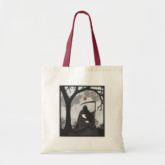 DEATH AND HIS BUNNY TOTE BAG