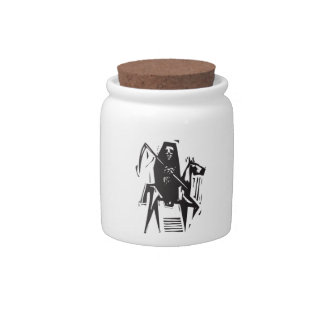 Death and Horse Candy Jars