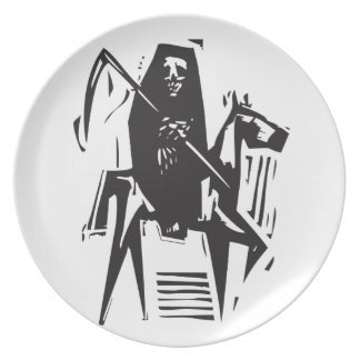 Death and Horse Dinner Plates