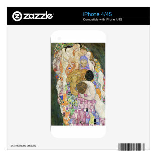 Death and Life by Gustav Klimt Decal For The iPhone 4S