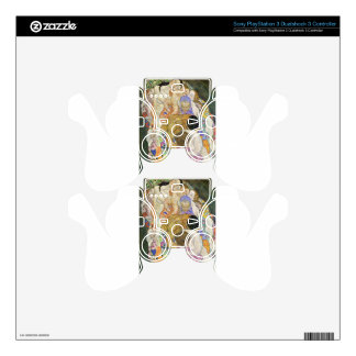 Death and Life by Gustav Klimt PS3 Controller Decal