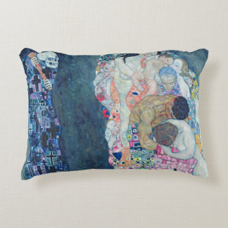 Death and Life, c.1911 (oil on canvas) Accent Pillow