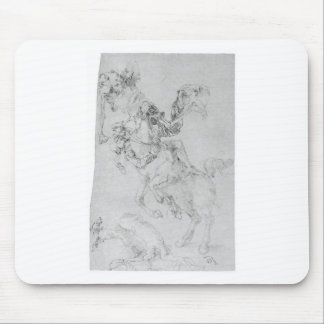 Death and rider by Albrecht Durer Mouse Pad
