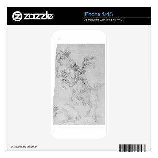 Death and rider by Albrecht Durer iPhone 4 Skins