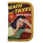DEATH AND TAXES - Tax Day Humor - Organizer Folio