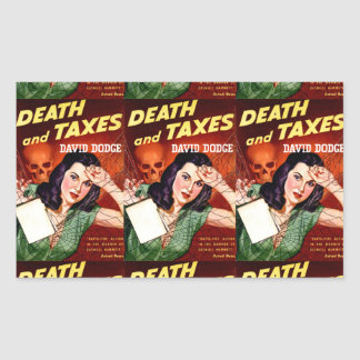 DEATH AND TAXES - Tax Day Humor - Sticker