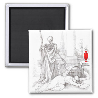 Death and the Maiden 2 Inch Square Magnet
