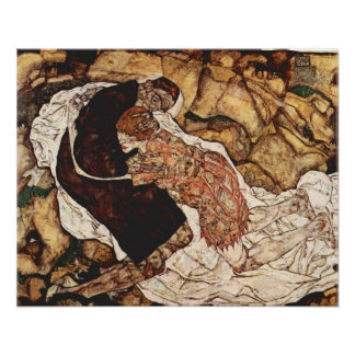Death And The Maiden by Egon Schiele Poster