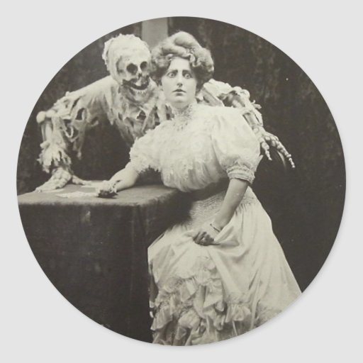 Death And The Maiden Classic Round Sticker