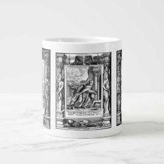 Death and the Pious Mug 20 Oz Large Ceramic Coffee Mug