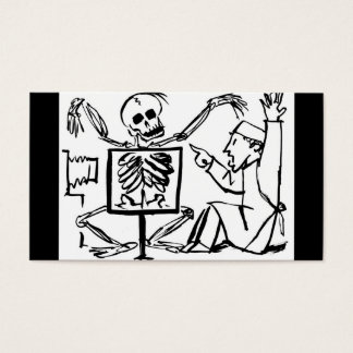 Death and the X-ray Doctor circa 1951 Business Card