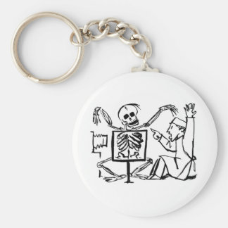 Death and the X-ray Doctor circa 1951 Keychain