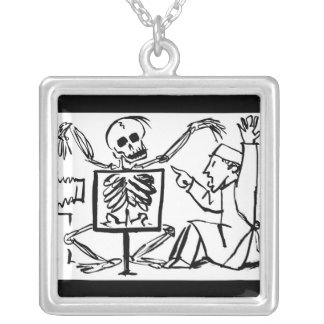 Death and the X-ray Doctor. Square Pendant Necklace