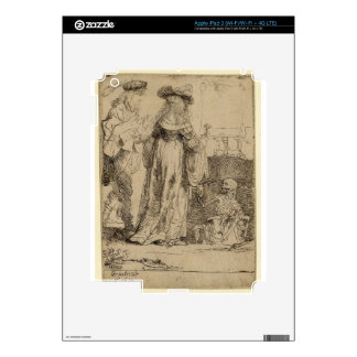 Death appearing to a wedded couple by Rembrandt Skins For iPad 3