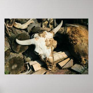 Death at a Buffalo Farm Print