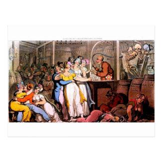 Death at the tavern postcard