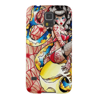 Death Becomes Her - Snake and Skull Pin Up Tattoo Galaxy S5 Covers