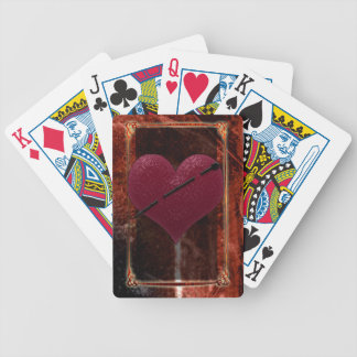 death becomes you heart pin bicycle playing cards