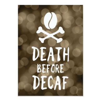 death before decaf coffee card