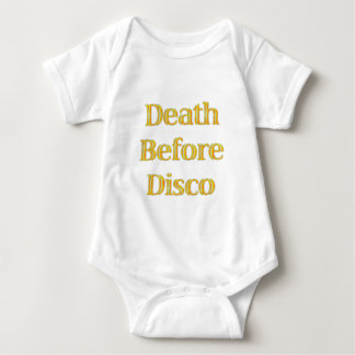 Death-Before-Disco Baby Bodysuit