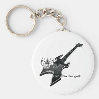 Death Before disco Basic Round Button Keychain