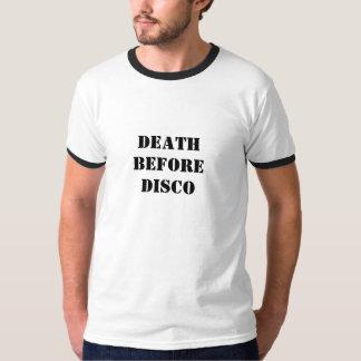 DEATH BEFORE DISCO TEE SHIRTS