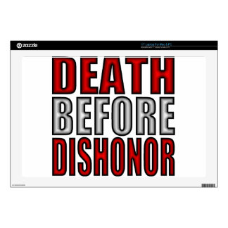 """Death Before Dishonor 17"""" Laptop Skin"""