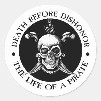 Death Before Dishonor Classic Round Sticker