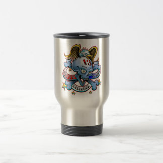 Death Before Dishonor Eagle Design Travel Mug