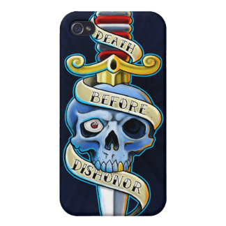 Death Before Dishonor Knife Design iPhone 4/4S Cases