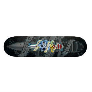 Death Before Dishonor Knife Design Skateboard