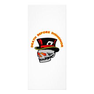 Death Before Dishonor Skull & Tophat Rack Card Design