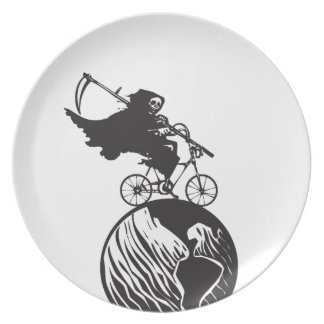 Death Bicycle and Earth Dinner Plate