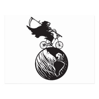 Death Bicycle and Earth Postcard