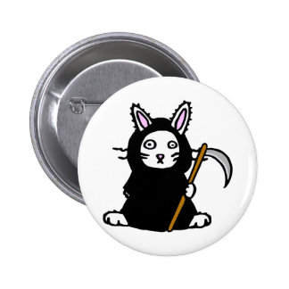 Death Bunny Pinback Buttons
