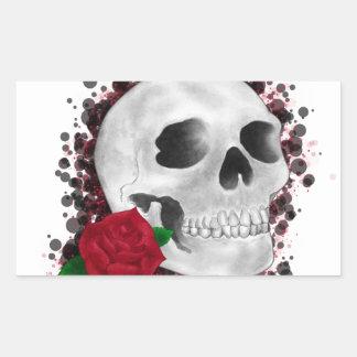 Death By Beauty Design Rectangular Sticker