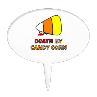 Death by Candy Corn Cake Topper