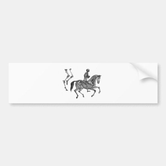 Death By Canter - Skeleton Horse At Canter Bumper Sticker